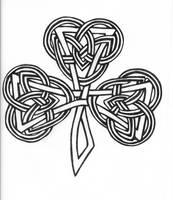 Celtic Knot Clover Tattoo by karadarkthorn