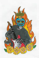 Band logo hand colored by karadarkthorn