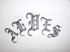 Last Name tattoo: ALVES by karadarkthorn