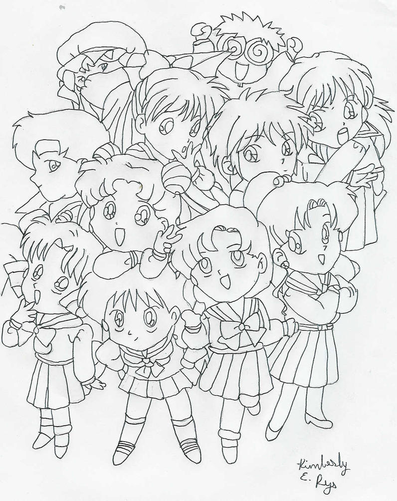 sailor moon group coloring pages - moon coloring pages search results calendar 2015