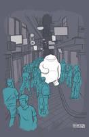A stroll through the city by cronobreaker