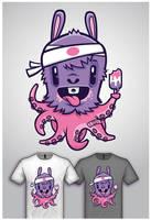 Cute Monster Tee Design 2 by cronobreaker