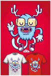 Cute Monster Tee Design 3