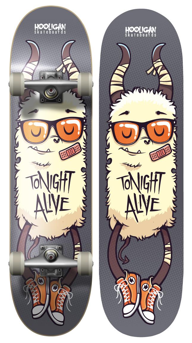 Tonight Alive - Board Design 1 by cronobreaker