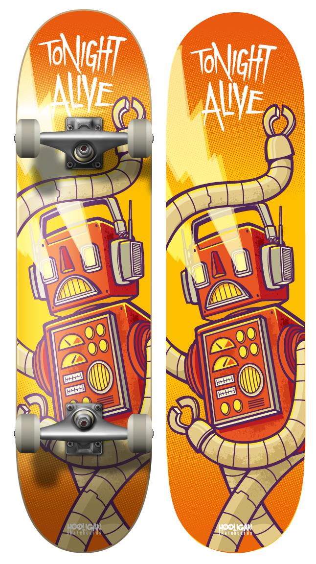 Tonight Alive - Board Design 2 by cronobreaker