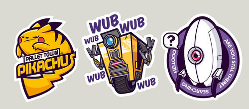 Gaming stickers 3 by cronobreaker
