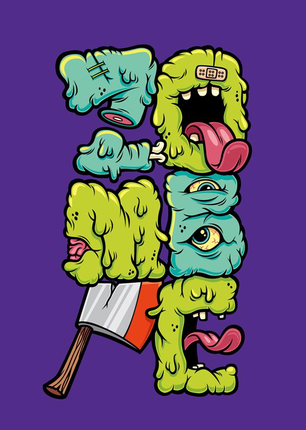 Zombie Font by cronobreaker