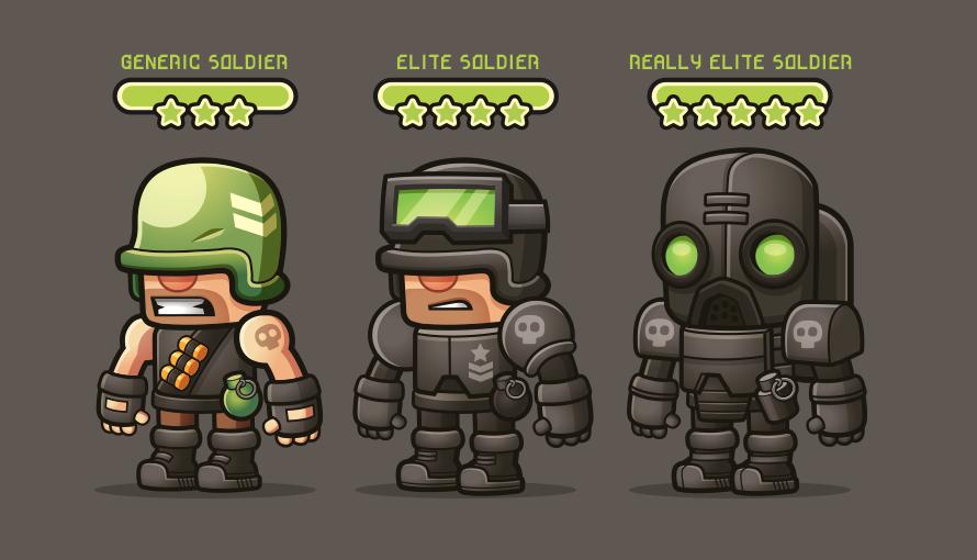 Generic Soldiers by cronobreaker