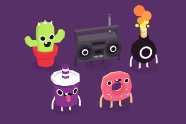 3D Critters by cronobreaker