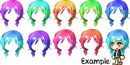 Maplestory Mixed/Custom Hair!~ by ILuhffYooh