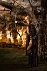 archer girl by BrunoContiArt