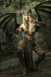 Succubus dragon lady by BrunoContiArt