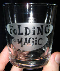 Folding is Magic glass by nekomatafuyu