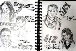30 Rock Doodles by MsWooster