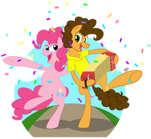 Cheese Sandwich and Pinkie Pie by ainemurray
