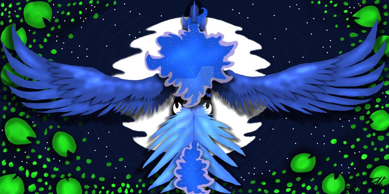 Luna's flight  by PerryPickny