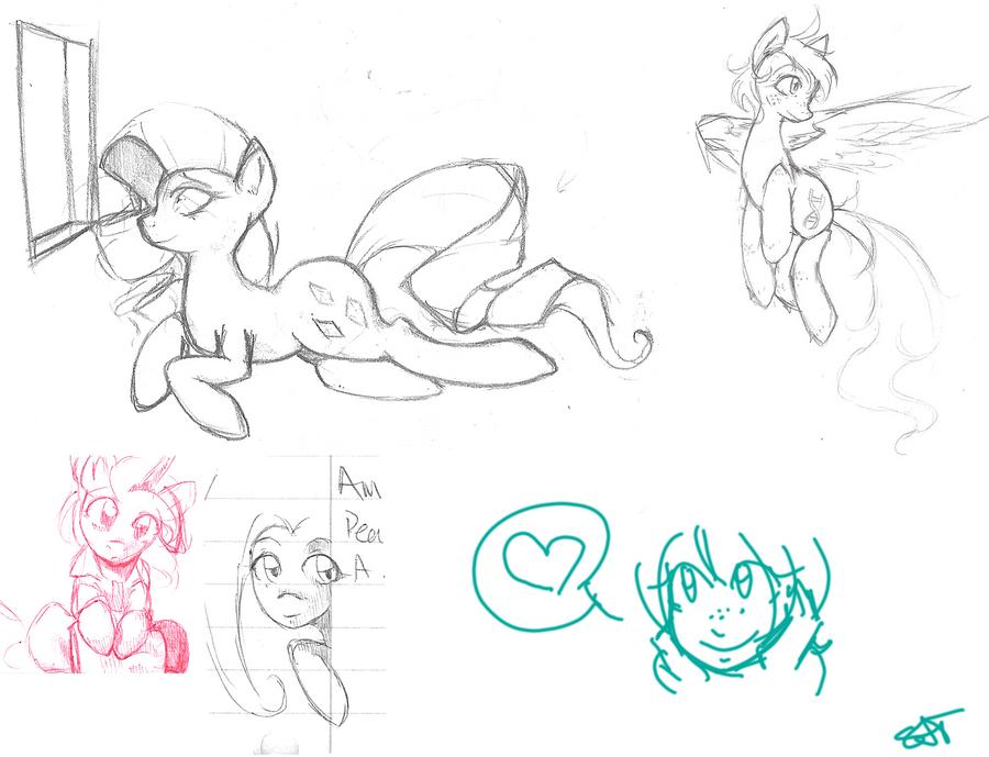 Pony Sketchdump by Sarochan