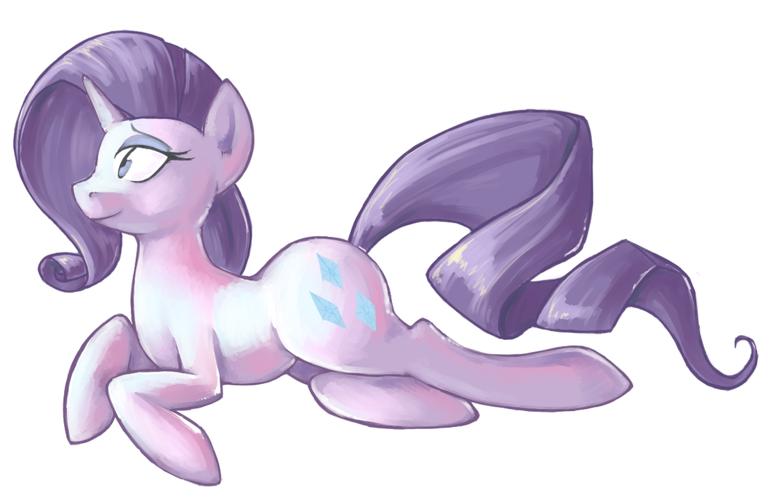 Lounging Rarity by Sarochan