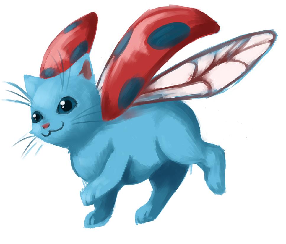 Catbug Takeoff by Sarochan
