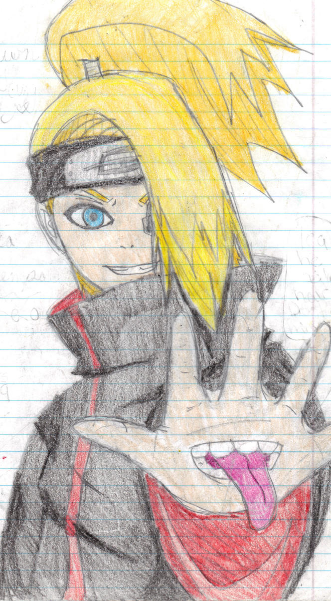 anime-girl1437 drew Deidara by pandapunk143