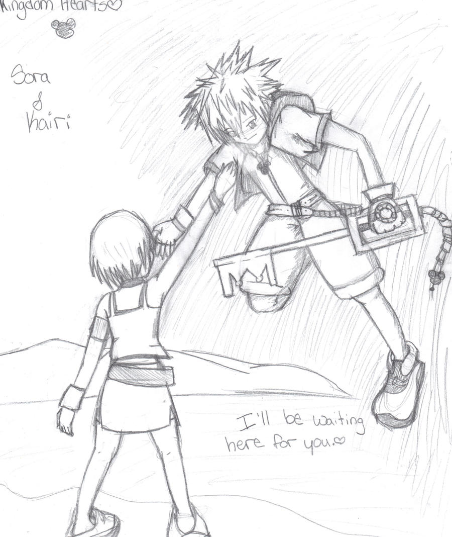 Kingdom Hearts Sora and Kairi by pandapunk143 on DeviantArt
