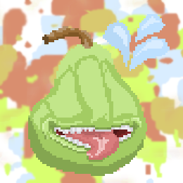 Pear but in focus by BravoRobot