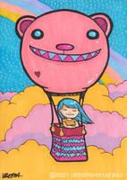 Hot Bear Balloon by yuzukko