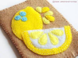 Lemons on Felt by yuzukko