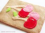 Cherries on Felt by yuzukko