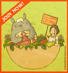Characters Salad Contest Ad