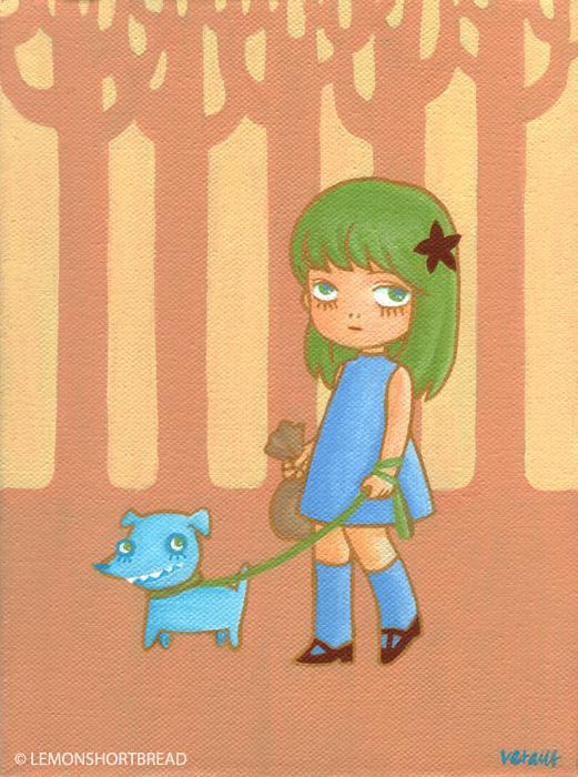 Walking the Blue Dog by yuzukko