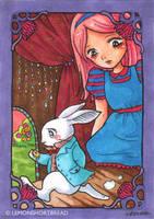 Alice and White Rabbit by yuzukko