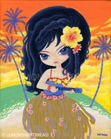 Blue Ukulele by yuzukko