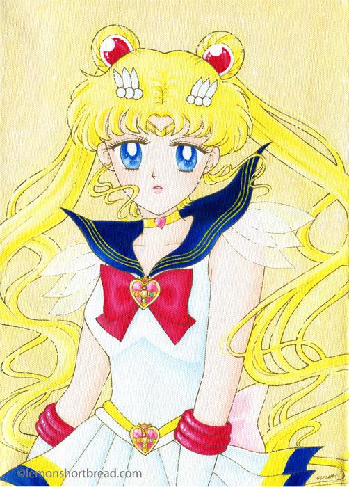 Super Sailor Moon on canvas by yuzukko