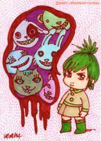 Chibi wutever monster by yuzukko