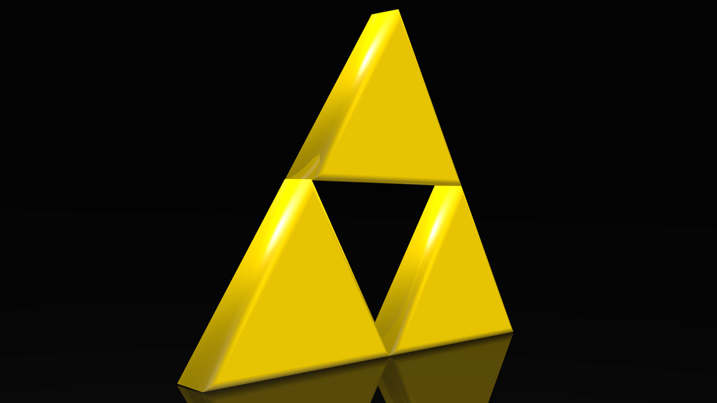 triforce legend of 3d render by homelessgoomba on deviantart