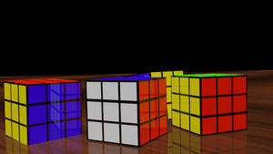RUBIK'S CUBE Puzzle 3D Model Render! by HomelessGoomba