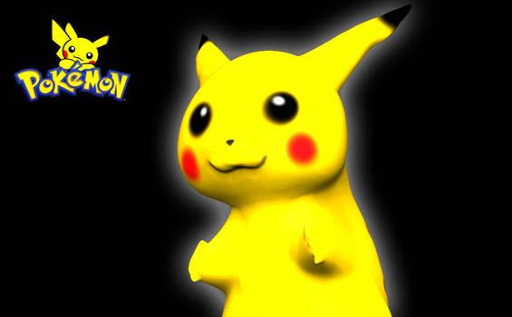 PIKACHU Cute Pokemon 3D Sculpt Render