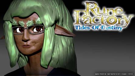 MAERWEN - Rune Factory DarkElf 3D Model Render