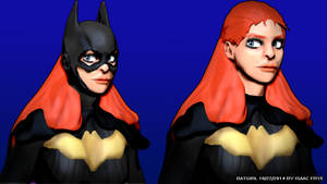 BATGIRL - DC Comics New 52 3D Model Render by HomelessGoomba