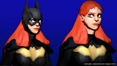 BATGIRL - DC Comics New 52 3D Model Render