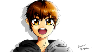 JOHNNY GHOST Young - VenturianTale Anime Drawing by HomelessGoomba