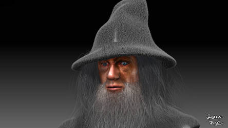 GANDALF THE GREY The Hobbit 3D Model Render!
