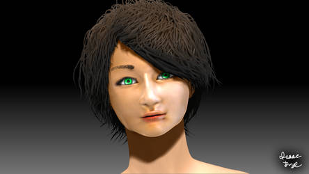 Generic Random Girl?? 3D Model Render