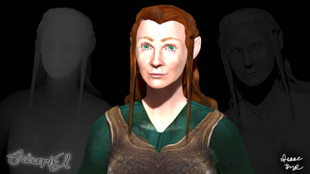 TAURIEL The Hobbit Elf 3D Model Render