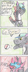 Dragon Brothers Comic - The Pokemon Battle by Raichulolrat