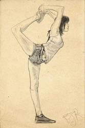 Dynamic pose sketch by zombryn