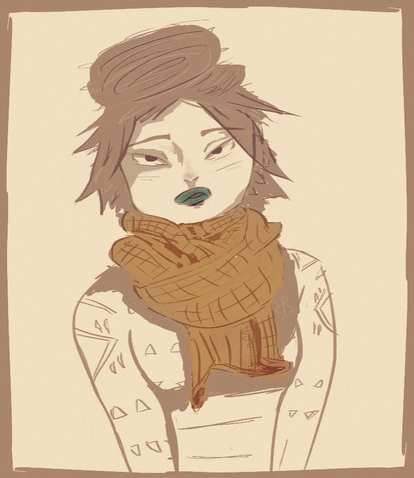 Scarfgirl2 by zombryn