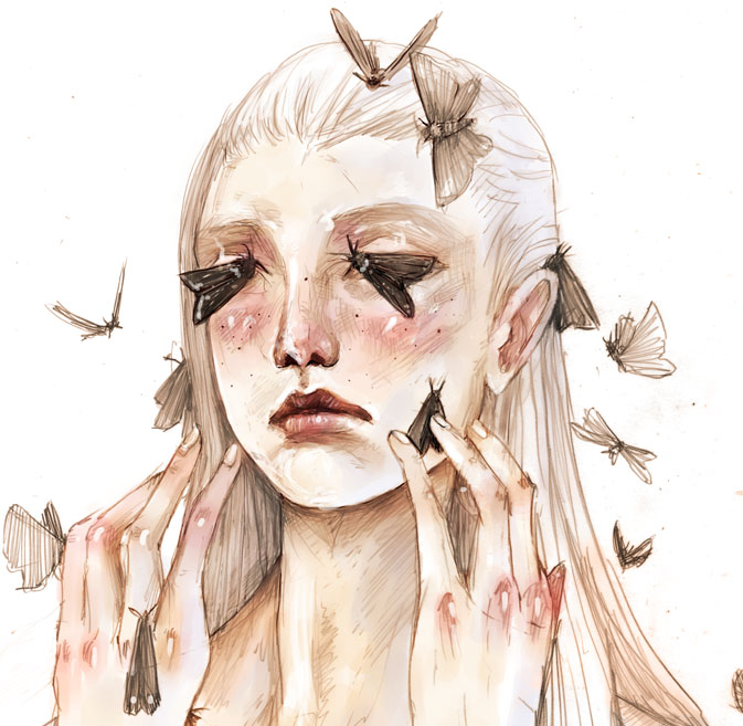 Black Moth Eyes by JunoSoldier