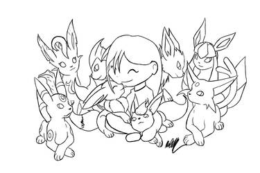 :Commission: Eeveelutions by GuardianOfTheFlame
